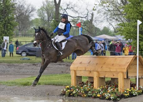 Phillip Dutton (USA) rides Mighty Nice during the cross country phase of the 2016 Rolex Kentucky Three Day Event, Presented by Land Rover.