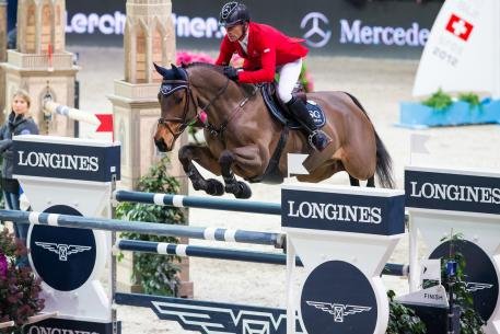 Pius Schwizer (SUI) riding PSG Future to win.