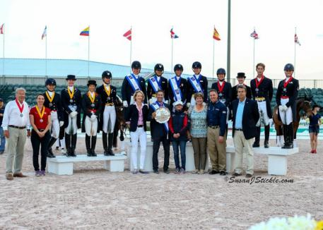 Team USA won the team portion of competition at the Stillpoint Farm FEI Nations Cup CDIO 3* hosted at the Adequan® Global Dressage Festival in 2015.