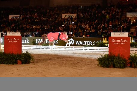 Spain's Beatriz Ferrer-Salat and Delgado won their second successive leg of the Reem Acra FEI World Cup™ Dressage Western European League at Stuttgart in Germany today. (FEI/Karl Heinz Frieler)