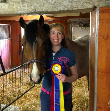 Kelly Soldavin and her pony Ketadog Admiral