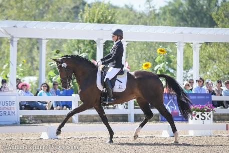 Rebecca Rigdon and Iquem (Photo: Annan Hepner/PS Dressage)