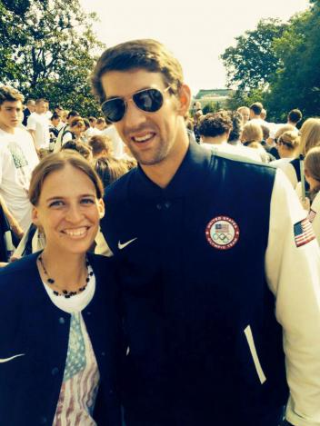 Rebecca Hart and Michael Phelps