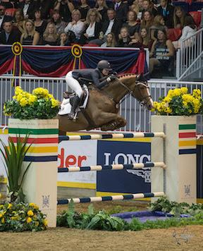 21-year-old Reed Kessler of the United States placed second riding Cylana in the $75,000 Big Ben Challenge, presented by Hudson's Bay Company.