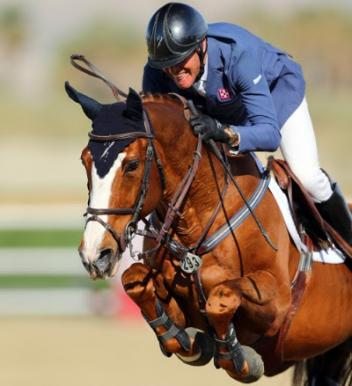 Rich Fellers and Flexible on their way to a $50,000 OSPHOS Grand Prix win.