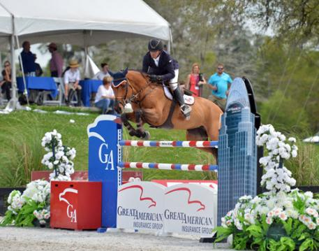 Roberto Teran and Woklahoma on their way to a Great American  Million Grand Prix win.