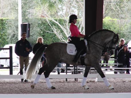 Robert Dover teaching one of many lessons given exclusively to select junior and young riders during the 2016 Robert Dover Horsemastership Clinic, sponsored in part by The Horse of Course