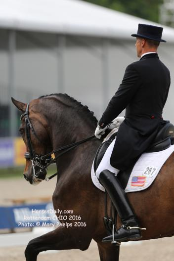 Steffen Peters rides Legolas in a Custom Revolution model