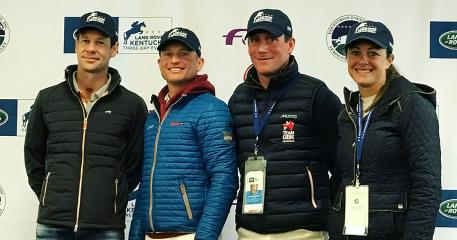 Top 4 going into Sunday's LRK3DE 2018 Show Jumping (from left): Christopher Burton (AUS), Michael Jung (GER), Oliver Townend (GBR) and Lynn Symansky (USA)