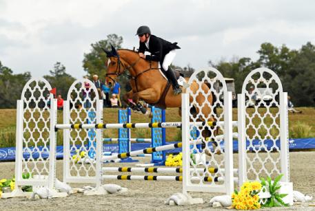 Scott Keach and Fedor on their way to a $50,000 Equine Couture/TuffRider Grand Prix win.