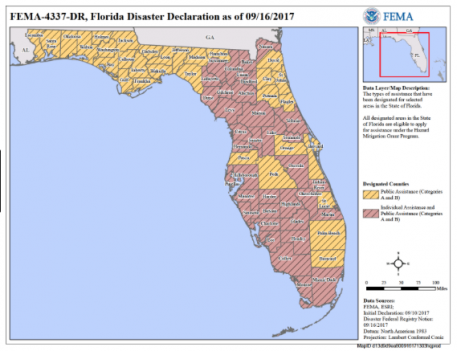 Fema Disaster map