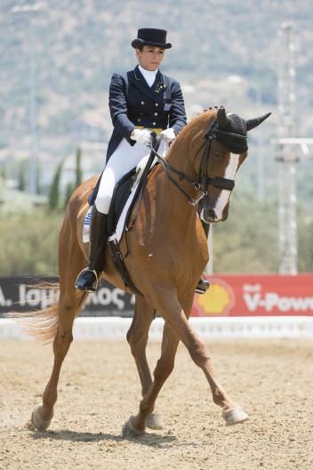 Christina Sachinoglou (GRE) and Rafaello 4. Winners of the Senior Freestlye