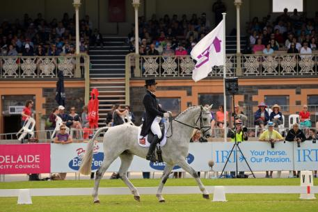 Shane Rose led the CCI4* competition from the outset two years ago and again earned the best score of 42.10 riding Felicity and Elizabeth Wischer's jumping bred Warmblood gelding, 'CP Qualified'.