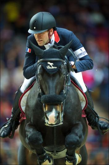 Olympic Jumping athlete Simon Delestre (FRA), Longines world number one, pictured in the first round of the Longines FEI World Cup™ Jumping Final 2016 in Gothenburg (SWE). FEI/Arnd Bronkhorst