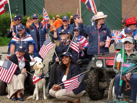 USA support crew for Stefanie Putnam and the Para World Championships 2016