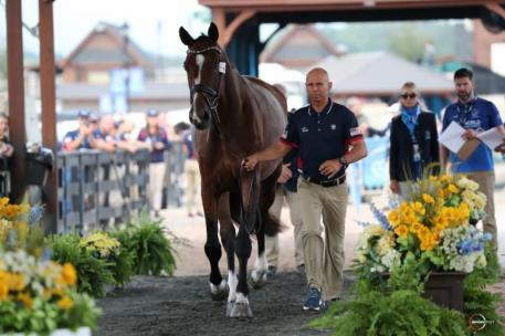 Steffen Peters and Suppenkasper will take to the U.S. Trust Arena with Team USA in Helgstrand Dressage competition, who are a medal favorite