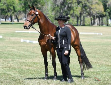 Suzy Stafford and PVF Peace of Mind at Live Oak International. (Photo:  Pics of You)