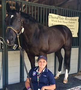 Sydney Collier and Wentworth love using their TheraPlate (Photo courtesy of Sydney Collier)
