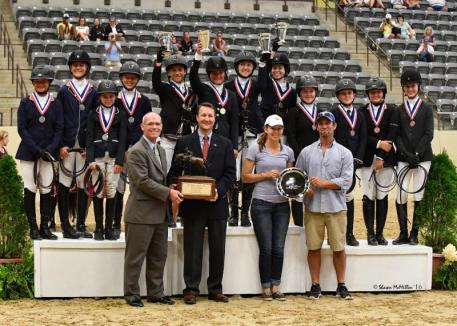 Team medalists in the US Pony Jumper Team National Championship (Shawn McMillen Photography)