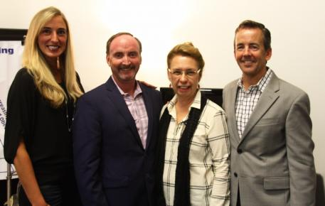 : Krystalanne Shingler of ShowChic, Bill Warren, Michele Hundt of ShowChic, and Bill McMullin