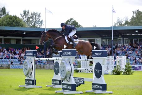 "Tim Stockdale (GBR) Riding ""Fleur de L'Aube. Highest Placed Brit at Hickstead Nations Cup"