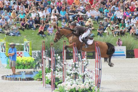 Todd Minikus and Quality Girl compete in the Great American  million Grand Prix at HITS Horse Show in Ocala, Fl