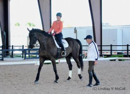 Athlete Roxanne Trunnell, U.S. Chef d'Equipe Kai Handt, USEF Para-Equestrian Dressage High Performance Symposium Develop the Coach Program 2016
