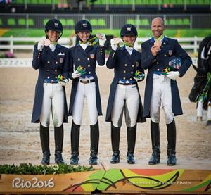 Allison Brock, Laura Graves, Kasey Perry-Glass, and Steffen Peters (Shannon Brinkman Photo