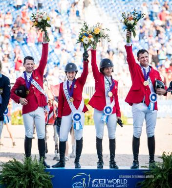 McLain Ward, Adrienne Sternlicht, Laura Kraut, and Devin Ryan (Photo: Shannon Brinkman Photo)