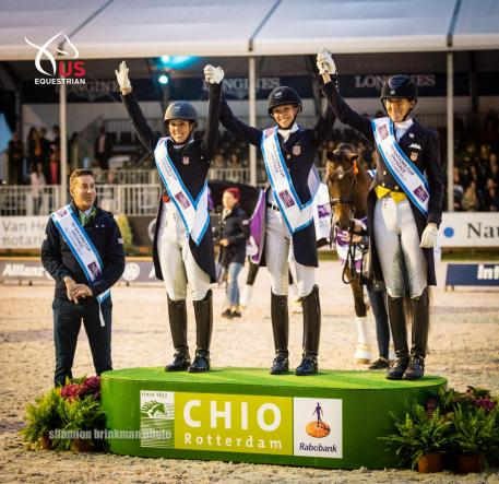 The Dutta Corp. Dressage Team Clinches Gold at FEI Nations Cup CDIO5* Rotterdam