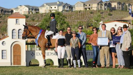 Vani Khosla and Billy Mexico with her Meadow Grove Farm trainers,  and representatives from Blenheim EquiSports and Davidson Communities