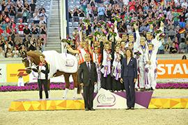 Vaulting team podium at european championships 2015