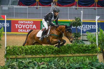 Waylon Roberts of Port Perry, ON, won his record eighth $20,000 Horseware Indoor Eventing Challenge in front of a full house on Saturday night, November 7, of the Royal Horse Show® in Toronto, ON.