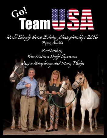 Wayne Humphreys and Mary Phelps with ponies