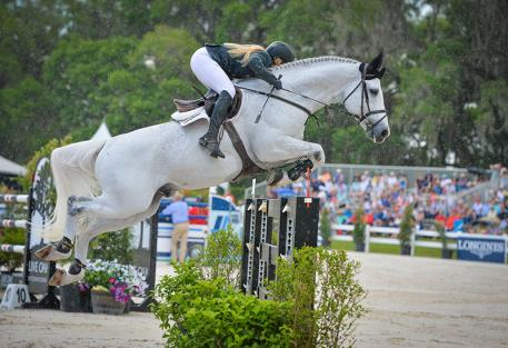 Kristen Vanderveen decisively won the 00,000 Longines FEI World Cup™ Jumping Qualifier Grand Prix