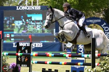 Wesley Newlands of Toronto, ON, placed second riding Wieminka B in the €25,000 Caser Seguros Trophy on Sunday, May 22, to conclude the Global Champions Tour event in Madrid, Spain.