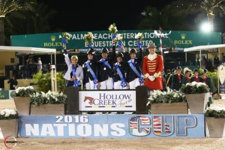 Gold medal-winning U.S. Young Rider Team (Sportfot)