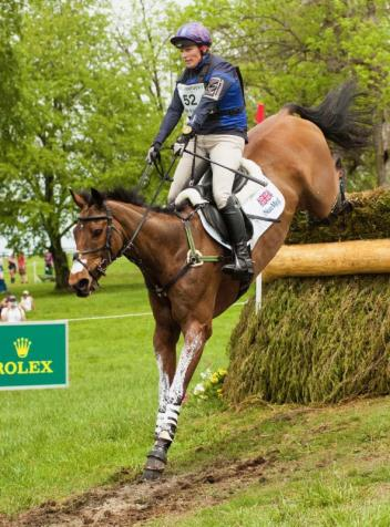 Zara Tindall and High Kingdom have made the most of their second trip to Rolex Kentucky, standing third after cross-country.