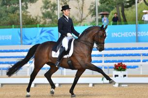 Young-shik Hwang of the Republic of South Korea at the 2014 Asian Games. (Photo: HorseMoveThailand)