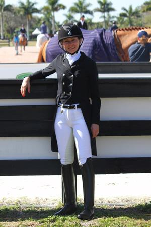 "At the ""America's Equestrians Got Talent"" Finale at the Adequan Global Dressage Festival, The Horse of Course will auction off this ""Dress for Success"" outfit— worth approximately $4,000"