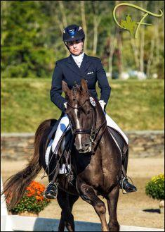 Lauren Chumley and Avatar's Jazzman show that a 14.1-hand Morgan pony can do well in dressage. (Photo: Flatlands Foto)