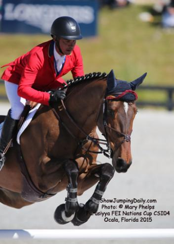 Pablo Barrios (VEN) and Antares, KWPN by Manhatten x Cavalier  produced a double clear for VenezuelaPhoto: © Mary Phelps
