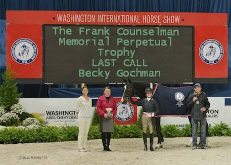 Becky Gochman and Last Call in their winning presentation with WIHS Executive Director Bridget Love Meehan and President Victoria Lowell.