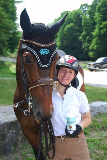 Belinda Trussell, Canadian Omega Alpha Ambassador and winning Grand Prix dressage rider (Photo:Brenda Snape)