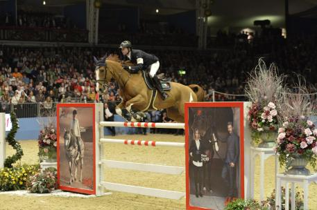 Ben Maher saved the best until last to win the Grand Prix at Olympia. Photo credit: Kit Houghton/HPower