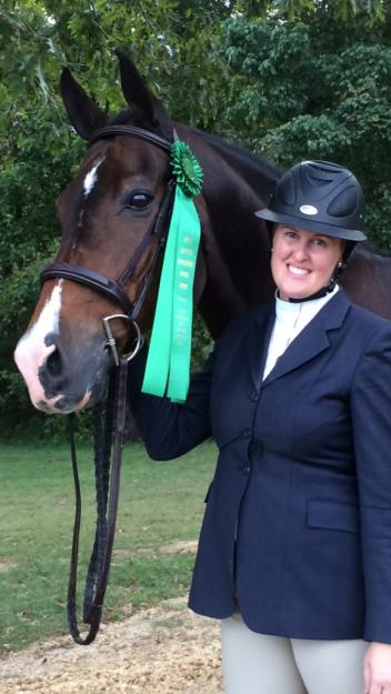 Beth Craven and Silverado earned the sixth place ribbon in the North American Adult Equitation Championships.