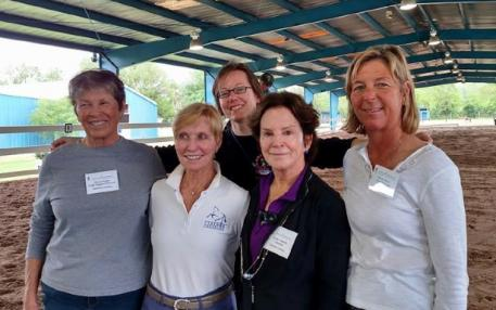 Sherry Guess, Betsy Steiner, USDF's Victoria Trout, Kathy Connelly and Donna Meyer