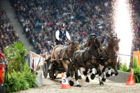 Boyd Exell (AUS) won his second FEI World Cup™ Driving competition of the season at the Sweden International Horse Show in Stockholm last night. Photo: Roland Thunholm/FEI.