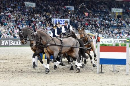 Reigning FEI World Cup™ Driving champion Boyd Exell (AUS) won the first FEI World Cup™ Driving qualifier of the 2014-2015 season held as part of the Stuttgart German Masters. Photo: Karl-Heinz Frieler/FEI.