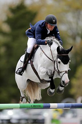 Brian Walker and Tamara 296, owned by The Tomorrow Group, went double-clear to claim the first Grand Prix victory at HITS Culpeper in the Commonwealth National Show on April 19, 2015 at HITS Commonwealth Park in Culpeper, Virginia. (c) ESI Photography